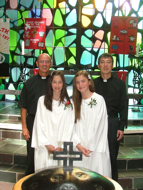Shannon & Nicky with Pastor Harold and Vicar Zhang